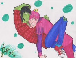 Commission: Marshall Lee x Prince Gumball by DeepThoughtInc