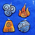 Avatar nations pendants by TrollGirl