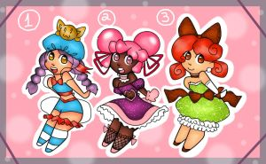 Magical Girl Adoptables 20pts (closed) by BrownieTheif