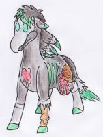 A Zombie Horse by Operia