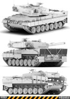 Leopard 2A4 Model by Siregar3D