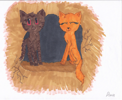 Brambleclaw and Squirrelflight by Dawnfire2025