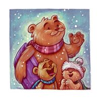 Snow Bears by danidraws