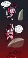Pinkie Slicin' Cake by Mickeymonster