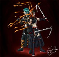 Exevilan and Xerva by Lord-Evell