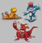 Digimon Mains Paint by DYW14