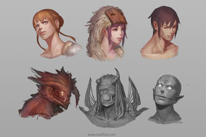 Character Portraits by Marfrey