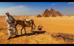 Giza Pyramids II by PortraitOfaLife