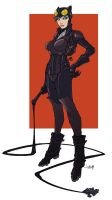 Catwoman flat colors by Jonboy007007