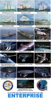 Tribute to ships named Enterprise by DoctorWhoOne