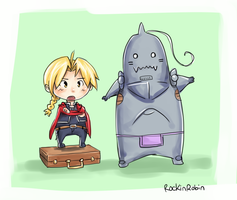 elric chibis by rockinrobin