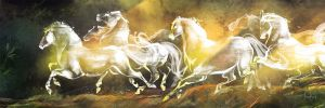 Six White Horses by FionaHsieh