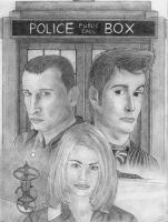 The Doctor and Rose by Nocturn0wl