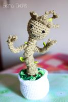 Little Groot  Kawaii Amigurumi plush by BramaCrochet