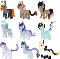 xksilver Foals - Closed by KittehzAdopts