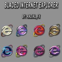 Bladed Internet Explorer Icons by rautry