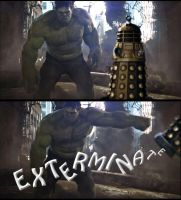 Asylum of the Daleks HULK vs DALEK by rocketman28