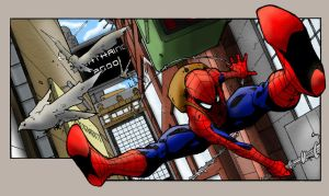 Spiderman on the Swing by Deathring2000