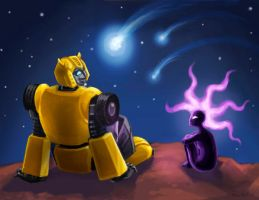 G1 Bumblebee and Verdona by feralkin