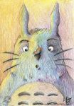 Totoro and butterfly by louise-rabey