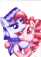 Maud Pie and Pinkie Pie by varijani