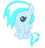 Snowdrift as a Baby Pony by Winter-218