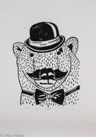 Polar bear Gentleman by MiaTheHawk
