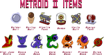 metroid II items by Doctor-G