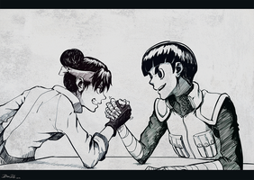 CodeHeaven Commission: Lee and Tenten by DaniDL