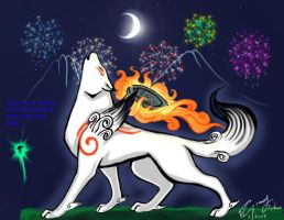 new years okami by MysticGaia