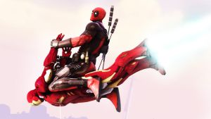Deadpool vs Iron Man by AngryRabbitGmoD