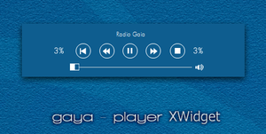 Gaya.player for XWidget. by tchiro