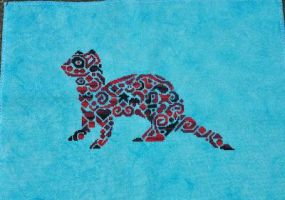 Tribal Ferret by ColourCascadeFabrics