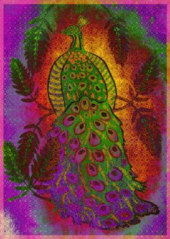 Psychedelic Peacock by Vafann