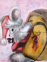 santa clause or santa mouse by kika1983