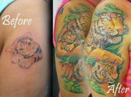 Tigers Half Sleeve by joshing88