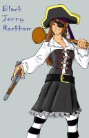Black jenny rackham coloured by Darcad