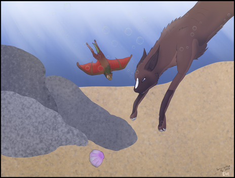 [June-Activity] Lets take a dive! by Dorky-Wolfen