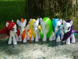 Fruit Rainbow Ponies by Vampasaurus