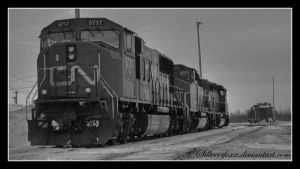 Freight Engines Greyscale by sillverrfoxx