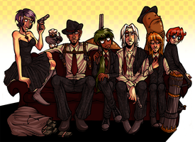Couch of badassery by GreenLiquidBrain
