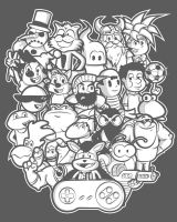 The Forgotten Super 16 bit T-shirt Design by alsnow