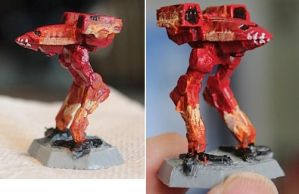 Battletech Catapult Paintjob by KittyHMommy