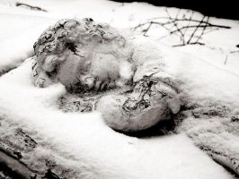 Sleeping in the snow by demon6of6the6fall