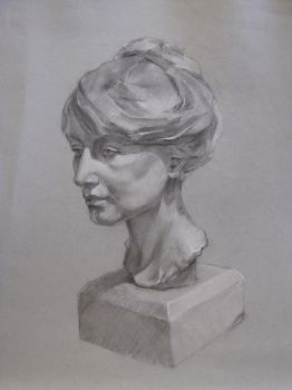 Charcoal and white pencil 01 by RMangano