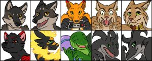Icon Batch #4 by Rikkoshaye