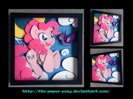 Bronycon 14 Charity Auction Pinkie Pie Shadowbox by The-Paper-Pony