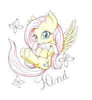 Kind Fluttershy by goomzz