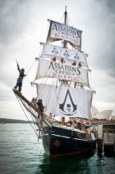 Assassins Creed Black Flag - Tall Ship by nazo-gema