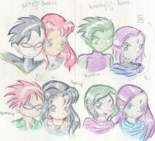 The Teen Titans Family by Renee15